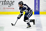 30 November 2009: Yale University Bulldogs' forward Sean Backman, a Senior from Cos Cob, CT, in action against the University of Vermont Catamounts at Gutterson Fieldhouse in Burlington, Vermont. The Bulldogs fell to the Catamounts 1-0 in a close rematch of last season's first round of the NCAA post-season playoff Tournament. Mandatory Credit: Ed Wolfstein Photo