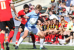 14 November 2010: UNC's Kirk Urso (3) and Maryland's Billy Cortes (7). The University of Maryland Terrapins defeated the University of North Carolina Tar Heels 1-0 at WakeMed Soccer Park in Cary, North Carolina in the ACC Men's Soccer Tournament Championship game.