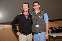 Student Clinician Ceremony. Peter Cooch, class of 2014, John Cole, M.D., right.