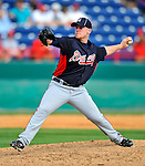 4 March 2011: Atlanta Braves pitcher Brett Oberholtzer in action during a Spring Training game against the Washington Nationals at Space Coast Stadium in Viera, Florida. The Braves defeated the Nationals 6-4 in Grapefruit League action. Mandatory Credit: Ed Wolfstein Photo
