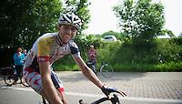 happy Dirk Bellemakers (NLD) after the race<br /> <br /> Halle - Ingooigem 2013<br /> 197km