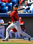4 March 2012: Houston Astros' outfielder Jordan Schafer in action against the Washington Nationals at Space Coast Stadium in Viera, Florida. The Astros defeated the Nationals 10-2 in Grapefruit League action. Mandatory Credit: Ed Wolfstein Photo