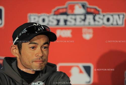 Ichiro Suzuki (Yankees), .OCTOBER 8, 2012 - MLB : .New York Yankees' Ichiro Suzuki speaks at a press conference before Game 2 of the American League division series against the Baltimore Orioles in Baltimore.  (Photo by AFLO)