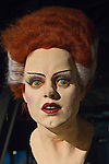 Garden City, New York. 15th June 2013. The Bride of Frankenstein bust, with red and white wig, is on display at the Eternal Con Pop Culture Expo, which was hosted by the Cradle of Aviation Museum of Long Island. This and other film memorabilia was brought by Billy Simons.