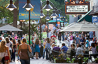 The downtown mall is one of the hot spots for local tourism in Charlottesville, VA in 2008. Photo/Andrew Shurtleff