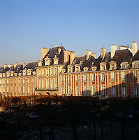 View from the apartment of the Pavillon de la Reine on the Place des Vosges.