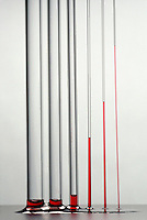 CAPILLARY ACTION - A MOVEMENT OF WATER<br /> Capillary Action of Glass Tubes Compared<br /> Water climbs up thin glass tubes because of the strong hydrogen-bonding interactions between water and the oxygen at the surface of the glass (SiO2). The level of water climbs higher in the smaller diameter tube.