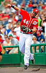 24 May 2009: Washington Nationals' first baseman Adam Dunn in action against the Baltimore Orioles at Nationals Park in Washington, DC. Dunn hit two home runs for the day including a Grand Slam as the Nationals rallied to defeat the Orioles 8-5 and salvage one win of their interleague series. Mandatory Credit: Ed Wolfstein Photo