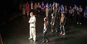 "Athletes (with the student designers) from the Special Olympics team model clothes designed for them by fashion students from Kingston College. Special Olympics Surrey put on a show,   ""Beyond the Stars"", at the Rose Theatre, Kingston upon Thames to raise money for the  SOGB team.  The Special Olympics are for athletes with learning disabilities."