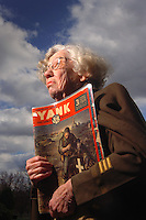 Evangeline R. Coeyman, a nurse from World War II can still fit into her Army coat and Nurses Cape as she holds the copy of  YANK magazine that her photo appeared in during the war. ( for War stories article to run on July 4th, 2006) ( CHUCK ZOVKO / TMC)