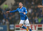 St Johnstone v Ross County....22.11.14   SPFL<br /> Michael O'Halloran celebrates his goal<br /> Picture by Graeme Hart.<br /> Copyright Perthshire Picture Agency<br /> Tel: 01738 623350  Mobile: 07990 594431