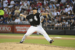 CHICAGO - JUNE 23:  Dylan Axelrod #39 of the Chicago White Sox pitches against the Milwaukee Brewers on June 23, 2012 at U.S. Cellular Field in Chicago, Illinois.  The White Sox defeated the Brewers 8-6.  (Photo by Ron Vesely)  Subject:  Dylan Axelrod
