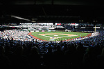Seattle Mariners' fans watch Texas Rangers at SAFECO Field in Seattle on April 10, 2015.  The Mariners came from behind to beat the Rangers 11-10.  Jim Bryant Photo. ©2015. All Rights Reserved.