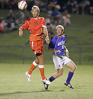 Virginia Cavalier women's and men's soccer playing in Klockner Stadium at the University of Virginia in Charlottesville, VA. Photo/Andrew Shurtleff.