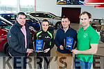 Radio Kerry Sports star of the month award in Randles Garage was presented to Shona Heaslip, Winner of November 2016 and Dominic Lynch, October 2016 here with Padraig McCarthy, Randles Garage and Eamon Hickson, Radio Kerry