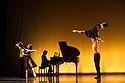 "London, UK. 01.07.2014.  New English Ballet Theatre present an evening of five premieres, entitled TRYST: DEVOTION & BETRAYAL, at the Peacock Theatre. the dancers are: Gyorgy Baan, Joshua Barwick, Lorenzo Bernardi, Hayley Blackburn, Niklas Blomqvist, Christina Ceccini, Jessica Clyde, Ludovico di Ubaldo, Matthieu Quincy, Mercedes Schindler, Yvonne Slingerland, Silas Stubbs, Francesca Tennant, Justine Wisznia. The piece shown is  ""Tangents"" by Daniela Cardim Fonteyne. Photograph © Jane Hobson."