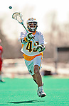 19 March 2011: University of Vermont Catamount F/O Andrew Muscara, a Freshman from Chandler, AZ, in action against the St. John's University Red Storm at Moulton Winder Field in Burlington, Vermont. The Catamounts defeated the visiting Red Storm 14-9. Mandatory Credit: Ed Wolfstein Photo