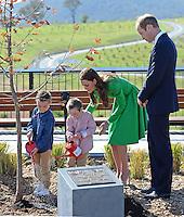 Kate, Duchess of Cambridge & Prince William visit the National Arboretum in Canberra - Australia