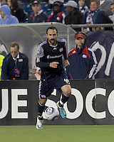 New England Revolution defender Ryan Cochrane (45) at midfield. In a Major League Soccer (MLS) match, the New England Revolution defeated the Vancouver Whitecaps FC, 1-0, at Gillette Stadium on May14, 2011.