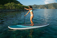 Thais on her stand up paddle board<br />