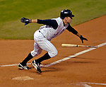 8 September 2006: Jamey Carroll, second baseman for the Colorado Rockies, in action against the Washington Nationals. Carroll went 3 for 5 with 2 RBIs as the Rockies defeated the Nationals 10-5 in a rain-delayed game at Coors Field in Denver, Colorado. ..Mandatory Photo Credit: Ed Wolfstein..