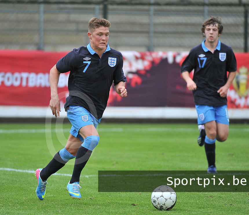 Belgium U19 - England U19 : Maximilian Clayton (7) .foto DAVID CATRY / Nikonpro.be