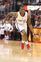 12/27/12 Los Angeles, CA: Los Angeles Clippers point guard Eric Bledsoe #12 during an NBA game between the Los Angeles Clippers and the Boston Celtics played at Staples Center. The Clippers defeated the Celtics 106-77 for their 15th straight win.