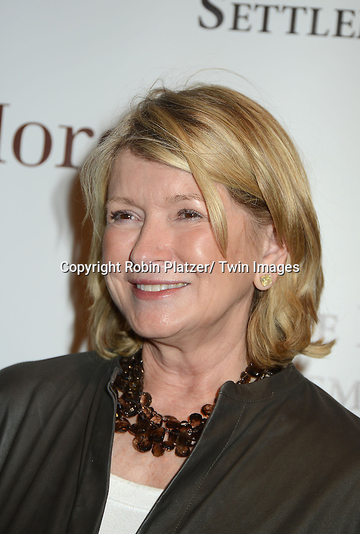 Martha Stewart attends the 59th Annual Winter Antiques Show opening night which benefits the East Side House Settlement on .January 24, 2013 at the Park Avenue Amory in New York City.