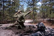 Fort Dix, NJ, USA, June 1980. US Army military training. Combat simulations.