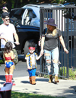 OCT 18 Hilary Duff and Family at a Halloween Party