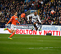 Football-Bolton Wanderers v Blackpool-FA Cup Third Round-Reebok Stadium-04/01/2014-Pictures by Paul Currie-KEEP-Bolton Wanderers Jermaine Beckford shoots over the crossbar