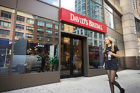 The David's Bridal store in the Chelsea neighborhood in New York on Friday, August 24, 2012. The retailer has agreed to be purchased by Clayton, Dubilier and Rice, a private equity firm. The deal for the 300 store chain is reported to be around $900 million. The wedding dress business has seen more retailers jumping into the action making it more competitive.  (© Richard B. Levine)
