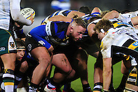 Max Lahiff of Bath Rugby prepares to scrummage against his opposite number. Aviva Premiership match, between Bath Rugby and Northampton Saints on February 10, 2017 at the Recreation Ground in Bath, England. Photo by: Patrick Khachfe / Onside Images