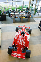 Target Chip Ganassi Racing lobby and a IndyCar.