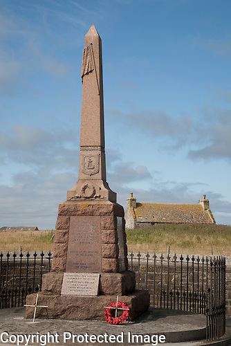 War Memorial, Isle of Sanday, Orkney Islands, Scotland