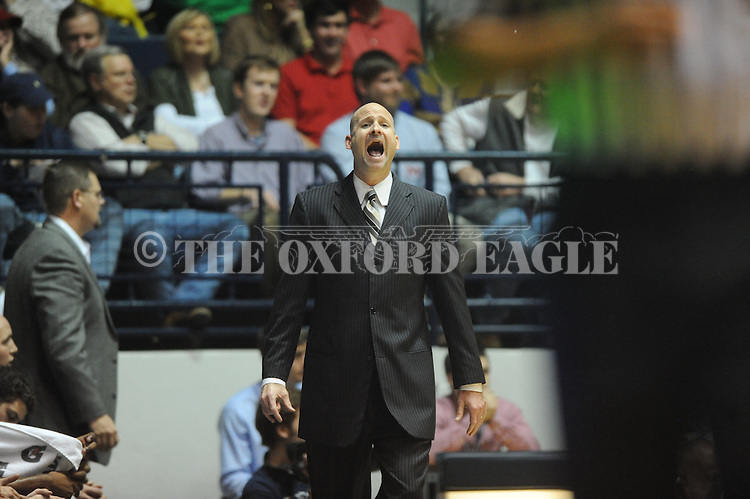 "Ole Miss head coach Andy Kennedy vs. Missouri at the C.M. ""Tad"" Smith Coliseum on Saturday, January 12, 2013. Ole Miss defeated #10 ranked Missouri 64-49."