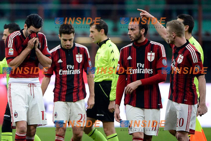 Delusione giocatori Milan<br /> Milano 18-01-2015 Stadio Giuseppe Meazza - Football Calcio Serie A Milan - Atalanta. Foto Giuseppe Celeste / Insidefoto