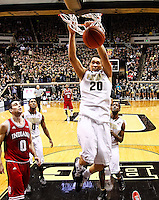 WEST LAFAYETTE, IN - JANUARY 30: A.J. Hammons #20 of the Purdue Boilermakers dunks the ball against the Indiana Hoosiers at Mackey Arena on January 30, 2013 in West Lafayette, Indiana. Indiana defeated Purdue 97-60. (Photo by Michael Hickey/Getty Images) *** Local Caption *** A.J. Hammons