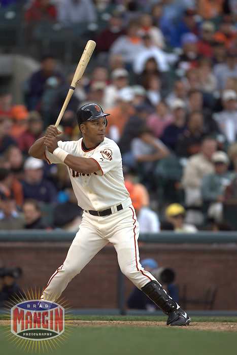 Moises Alou. Baseball: Milwaukee Brewers vs San Francisco Giants. April 23, 2005 at AT&T Park in San Francisco.