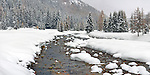 This is the Orco river in the Gran Paradiso National Park, Italy. I took this picture in a late afternoon at the beginning of February, while it was snowing. This is a stitch of 7 vertical frames.