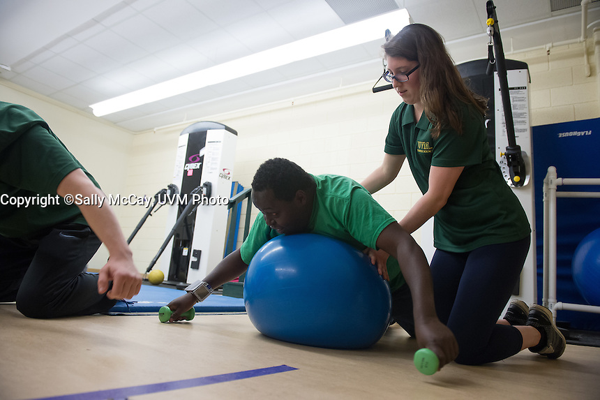 Sussan Kassner and Physical Therapy Students training session with Special Olympics Athletes.<br />