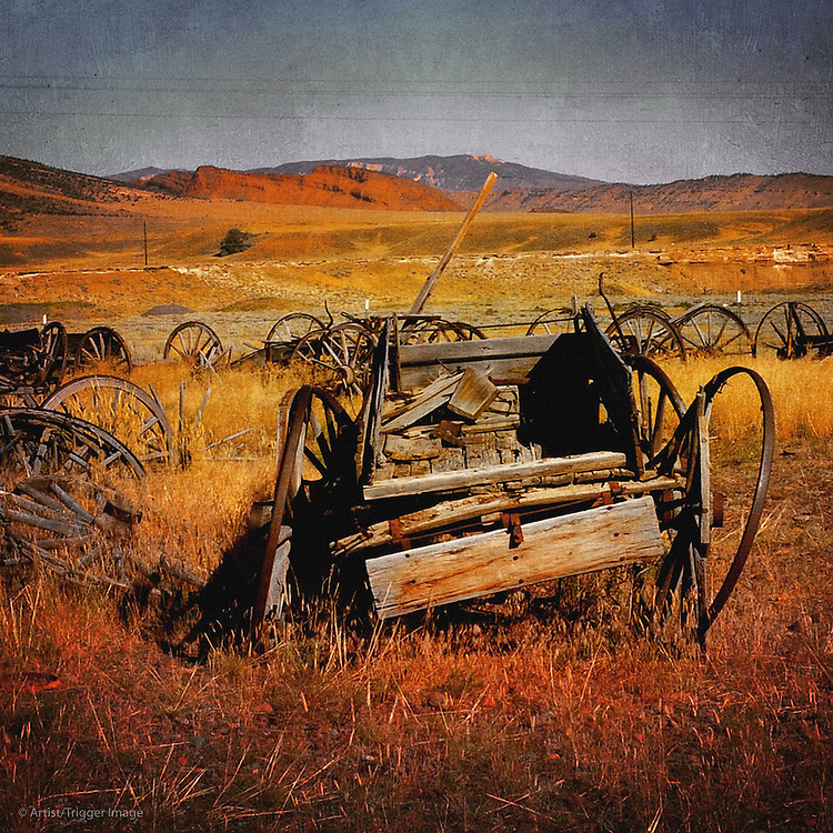 Vintage americana farm machinery