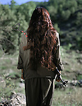 HPG (PKK) Female fighter. Southern Kurdistan/Nothern Irak.May 2007.