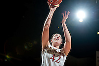 STANFORD, CA-JANUARY 18, 2012 - Sarah Boothe lays up two in the second half against the visiting Washington State Cougars. The Cardinal defeated WSU 75-41.