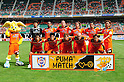 Shimizu S-Pulse team group line-up, SEPTEMBER 17, 2011 - Football / Soccer : Shimizu S-Pulse players (Top row - L to R) Kaito Yamamoto, Calvin Jong-a-Pin, Eddy Bosnar, Shinji Tsujio, Alex, Keisuke Iwashita, (Bottom row - L to R) Atomu Nabeta, Toshiyuki Takagi, Genki Omae, Fredrik Ljungberg and Kosuke Ota pose for a team photo with the club mascot Pul-chan before the 2011 J.League Division 1 match between Shimizu S-Pulse 1-0 Urawa Red Diamonds at Ecopa Stadium in Shizuoka, Japan. (Photo by AFLO)
