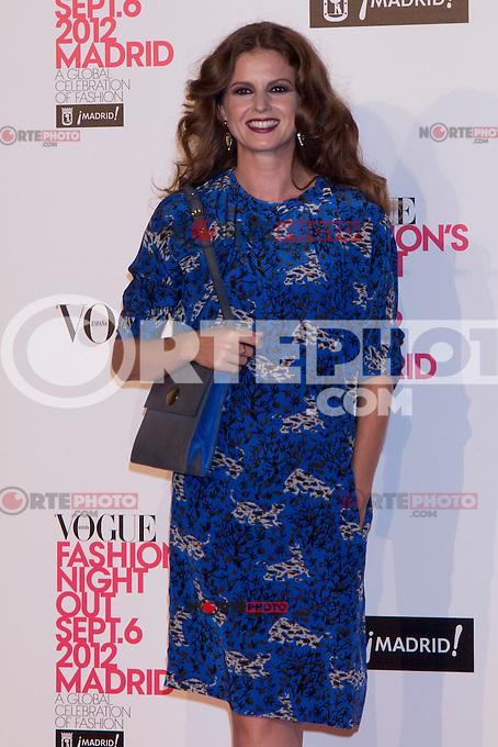 06.09.2012. Vogue Fashion&acute;S Night Out Madrid. In the image Marian Aguilera (Alterphotos/Marta Gonzalez) /NortePhoto<br />  **CREDITO*OBLIGATORIO** *No*Venta*A*Terceros* *No*Sale*So*third* ***