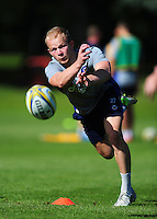 Will Homer of Bath Rugby passes the ball. Bath Rugby pre-season training session on August 9, 2016 at Farleigh House in Bath, England. Photo by: Patrick Khachfe / Onside Images