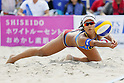 Sayaka Mizoe, MAY 6, 2012 - Beach Volleyball : JBV Tour 2012 Sports Club NAS Open  Women's final at Odaiba Beach, Tokyo, Japan. (Photo by Yusuke Nakanishi/AFLO SPORT) [1090]