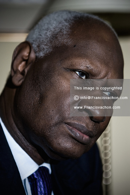 Quebec city, QC - July 20, 2008. Secretaries-general (Secretaire general) of the Organisation internationale de la Francophonie (International Organization of La Francophonie) Abdou Diouf speaks with Globe reporter in his Chateau Frontenac hotel room in Quebec city, July 20, 2008.