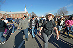 The Rev. Lyda Pierce, a United Methodist pastor, participates in a February 14 2015 march in Pasco, Washington, demanding justice for the killing of Antonio Zambrano Montes by three Pasco police officers on February 10. About 700 people participated in the rally and march.